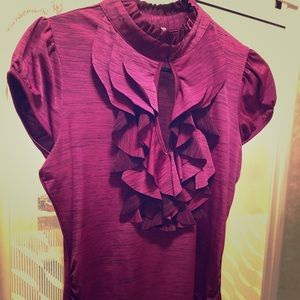 Women's fitted ruffled blouse